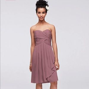 dfdcae3584 David s Bridal. David s Bridal Short Chiffon Dress Front Cascade. NWT